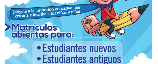 Todos a estudiar, matrículas abiertas. Invitación de la Gobernación del Cauca y La Secretaría de Educación